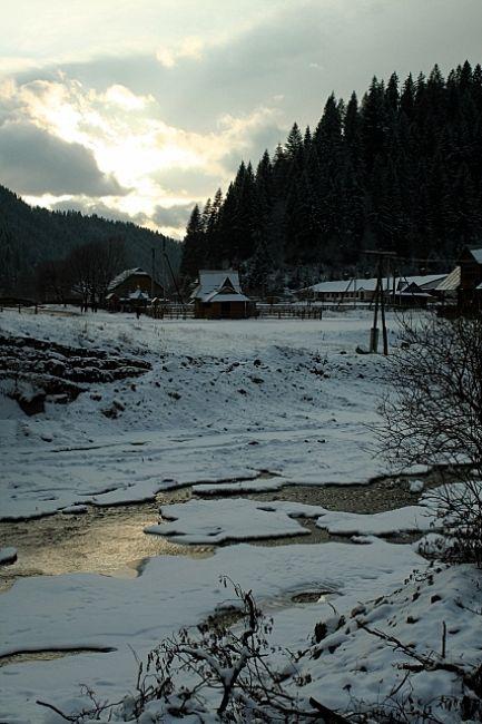 Zdjęcia: Bereżnica, Huculszczyzna, Zmierzch, UKRAINA