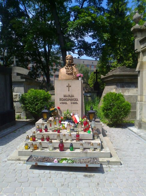 Zdjęcia: grobowiec M.Konopnickiej, cm. Łyczakowski, Lwów czerwiec 2012, UKRAINA