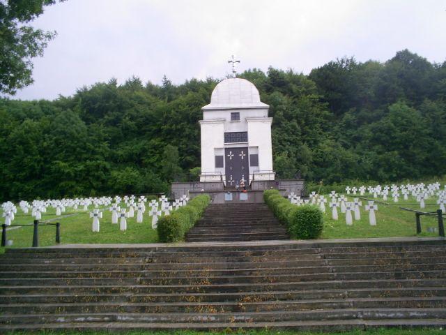 Zdjęcia: niedaleko Zarwanycy - 100km za Lwowem, Galicja, cmentarz żołnierzy Dywizji Halyczyna 1944r, UKRAINA