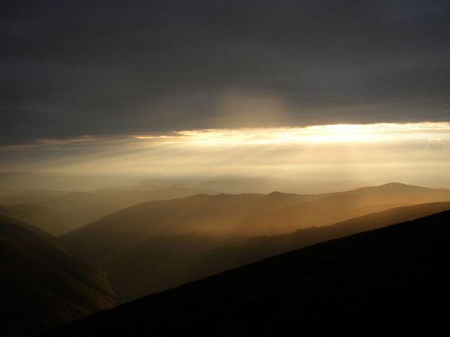 Zdjęcia: Karpaty, zachód słońca, UKRAINA