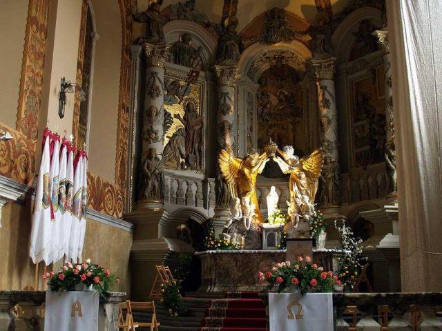 Zdjęcia: Lww, wnętrze kościoła  im. Marii Magdaleny w Lwowie, UKRAINA