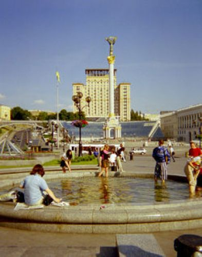 Zdjęcia: Kijów, plac Niepodległości, UKRAINA