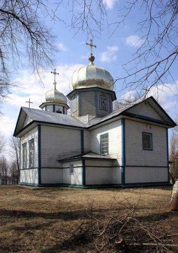 Zdj�cia: Korzuchiwka, widoczek na cerkiew, UKRAINA