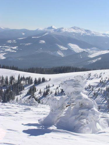 Zdj�cia: Drahobrat, zimowy widoczek, UKRAINA