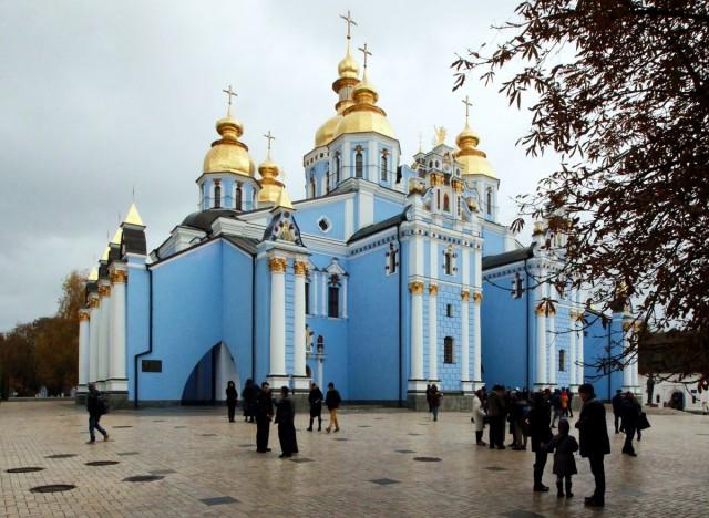 Zdjęcia: Centrum miasta, Kijów, Monaster św. Michała Archanioła o Złotych Kopułach , UKRAINA
