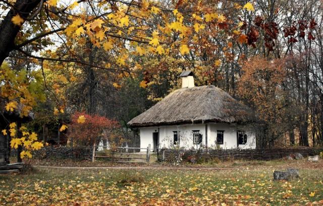 Zdjęcia: Muzeum narodowej architektury, Pirogowo, Kijów, Jesień, UKRAINA