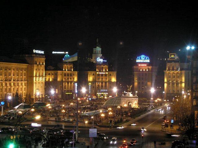 Zdjęcia: Korzuchiwka, Majdan nocą, UKRAINA