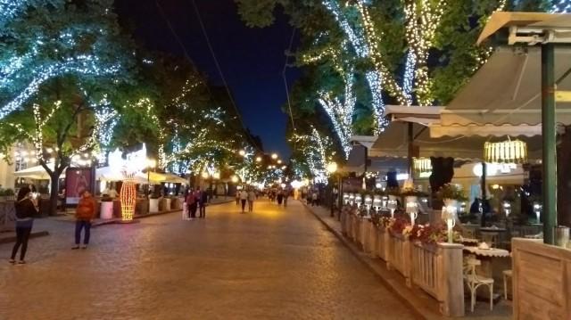 Zdjęcia: deptak ul Dieribasowskaja, Odessa nocą, UKRAINA