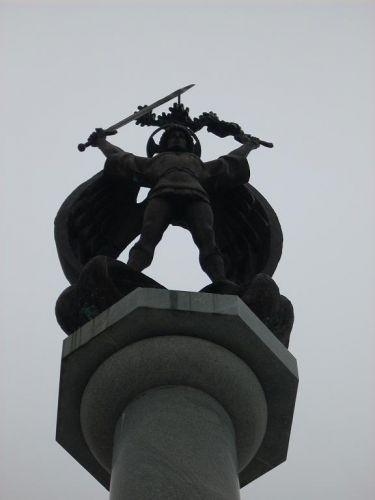 Zdjęcia: Lwów, Ukraina Zachodnia, Kolumn z Michałem Archaniołem, UKRAINA