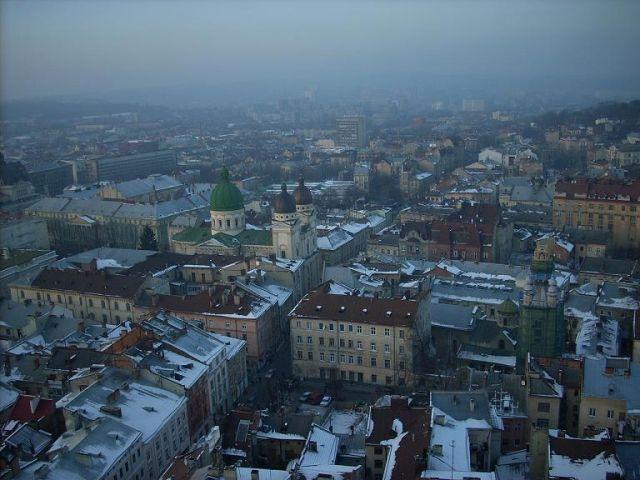 Zdjęcia: Lwów, Ukraina Zachodnia, Widok z wieży ratusza, UKRAINA