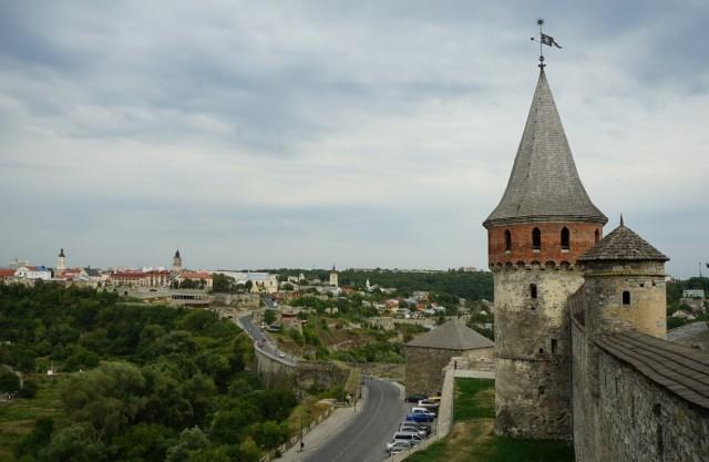 Zdjęcia: Kamieniec Podolski, Chmielnicki, Panorama z basztą, UKRAINA