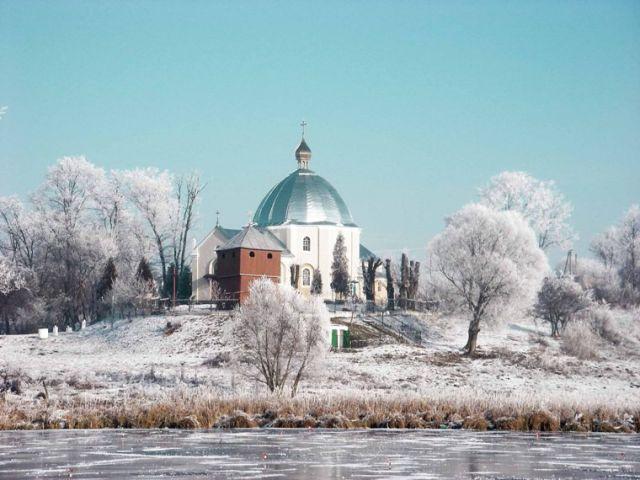 Zdjęcia: okolice miejscowości Umań, zimowy widok, UKRAINA