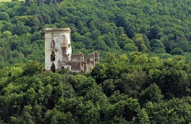 Zdjęcia: Czerwonogród, Obwód Tarnopolski, Ruiny zamku, UKRAINA