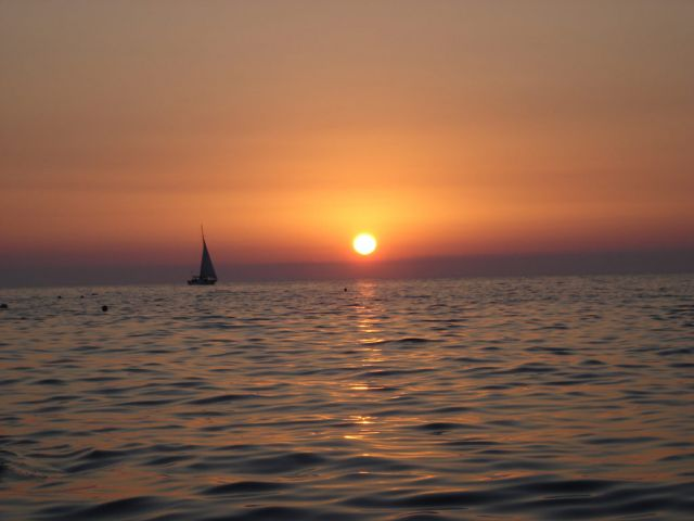 Zdj�cia: sewastopol, zach�d s�o�ca nad morzem, UKRAINA