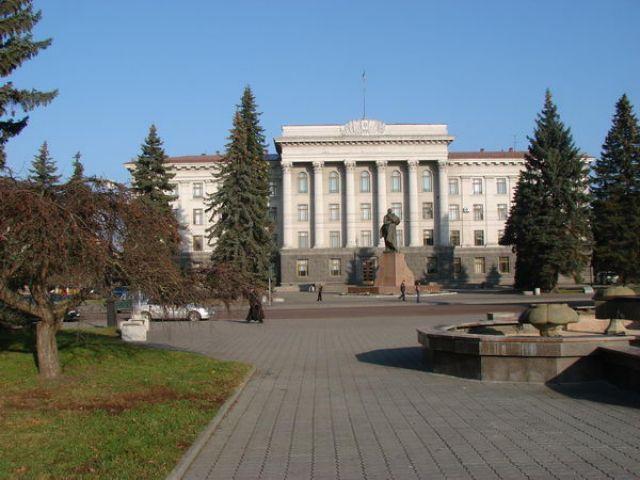 Zdjęcia: Łuck, skwer i uniwerek, UKRAINA