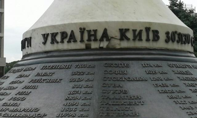 Zdjęcia: Majdan Niepodleglośći, Kijów, Pomnik na Majdanie Nezałeżnoszczi-1, UKRAINA