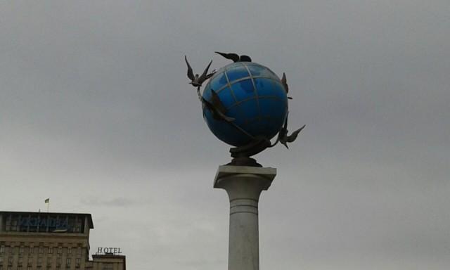 Zdjęcia: Majdan Niepodleglośći, Kijów, Pomnik na Majdanie Nezałeżnoszczi-2, UKRAINA