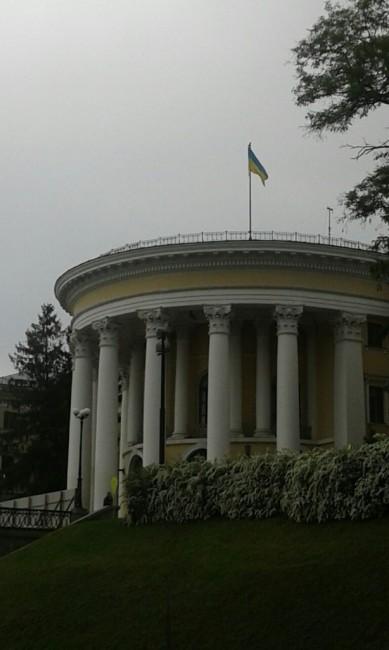 """Zdjęcia: Ul. Instytuśka, Kijów, Pałac Kultury """"Żowtnewy"""", UKRAINA"""