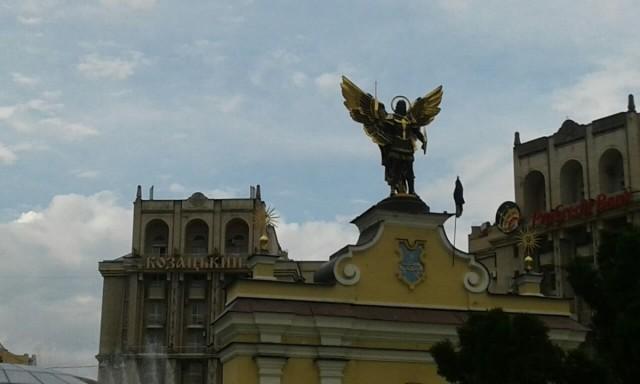 Zdjęcia: Majdan Niepodleglośći, Kijów, Archanioł Michał (niebiański patron Kijowa), UKRAINA
