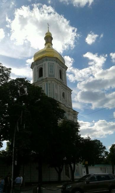 Zdjęcia: Plac Sw. Zofii w KIjowie, Kijów, Dzwonnica kościoła sw. Zofii w Kijowie-2, UKRAINA