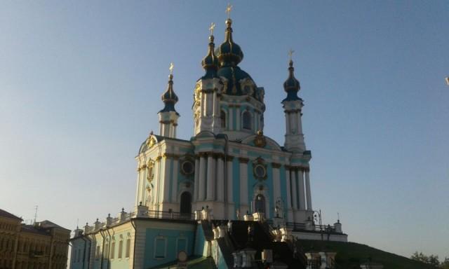 Zdjęcia: Taras widokowy obok muzeum Historycznego, Kijów, Kościół św. Andrzeja-3, UKRAINA