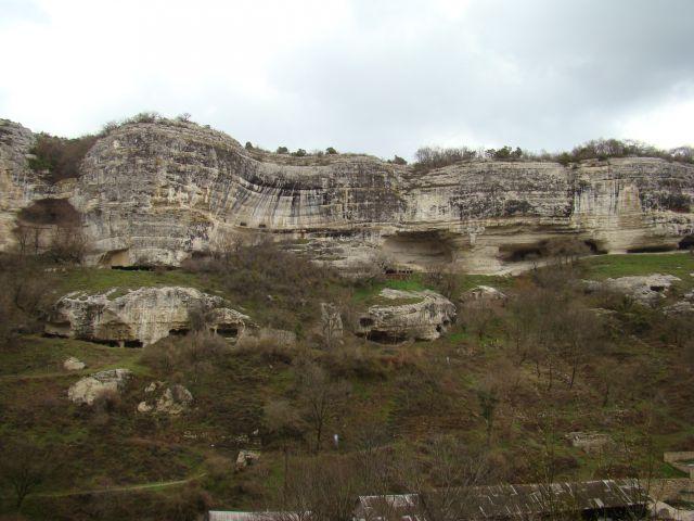 Zdj�cia: Czufut-Kale, KRYM, Formacje skalne w drodze na Czufut - Kale, UKRAINA