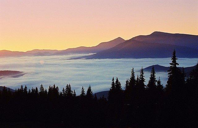 Zdjęcia: Świdowiec, przełęcz Drahobrat, Karpaty Wschodnie, Poranek po tygodniu deszczu, UKRAINA