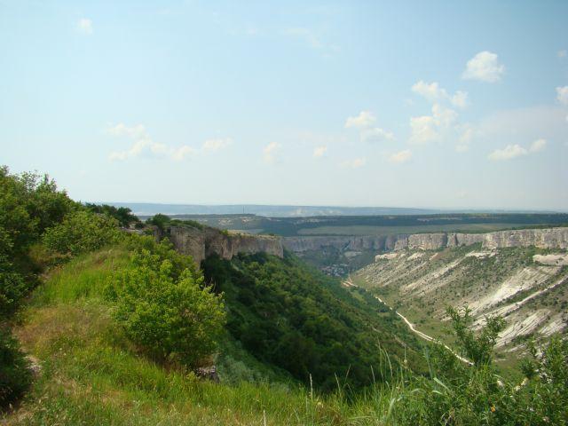 Zdjęcia: Czufut Kale, Półwysep Krymski, widok z Czufut, UKRAINA