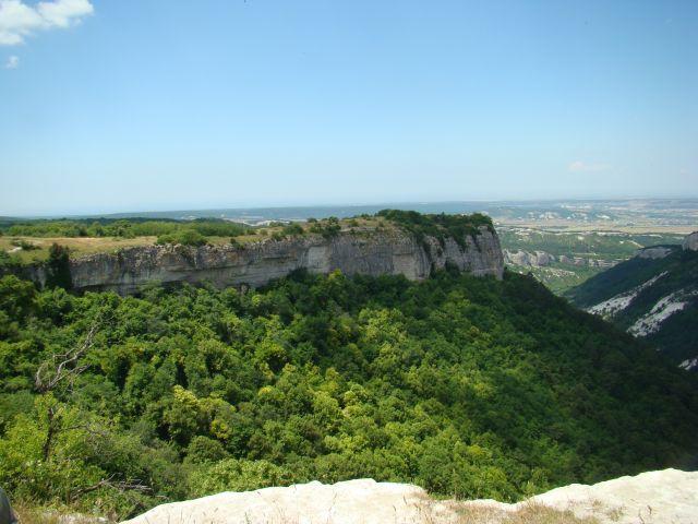 Zdjęcia: Twierdza Mangup Kale, Krym, Widok z Mangup-Kale, UKRAINA