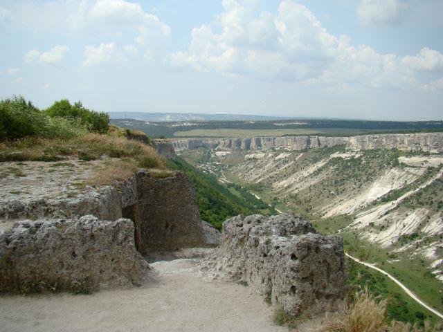 Zdjęcia: CZUFUT KALE, KRYM, WIDOK NA DOLINE, UKRAINA