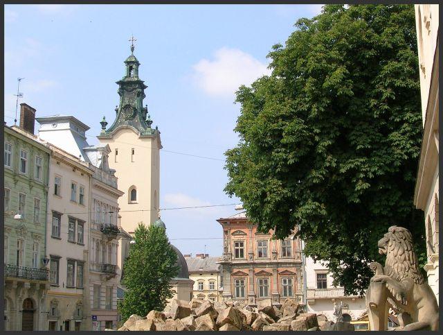 Zdjęcia: Lwów, K r e s y, Fragment Rynku  , UKRAINA