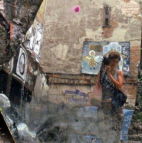 Zdjęcia: Lwów, Autoportret z aniołkiem, UKRAINA