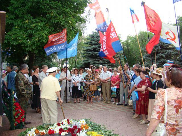 Zdjęcia: Teodozja, kRYM, Demonstracja kombatantów rosyjskich, UKRAINA