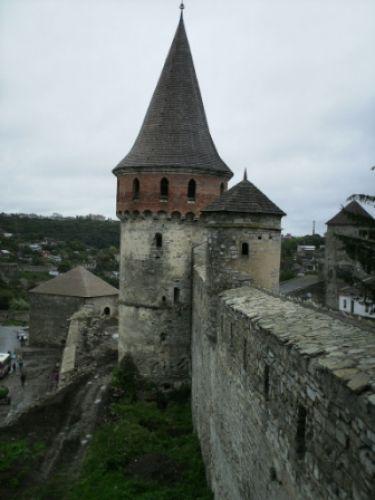 Zdjęcia: Zamek w Kamieńcu Podolskim, Kamieniec Podolski, wieżyczka zamku, UKRAINA