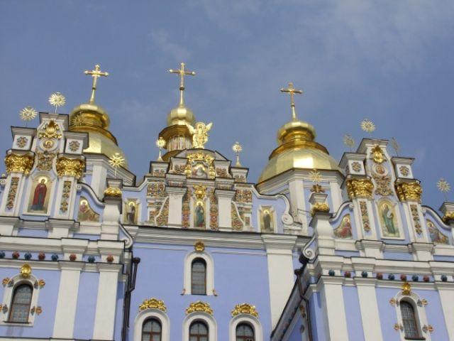 Zdjęcia: Cerkiew św. Michała, Kijów, Złote kopuły, UKRAINA