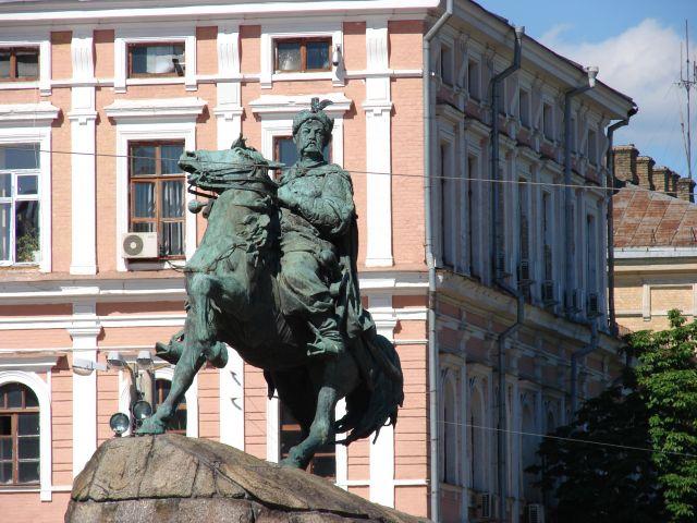 Zdjęcia: kijów, kijów, pomnik bohdan zenobi chmielnicki, UKRAINA