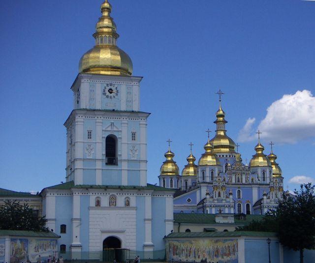 Zdjęcia: kijów , kijów , Jedno z ważniejszych miejsc w Kijowie Klaszor Świętego Michała , UKRAINA