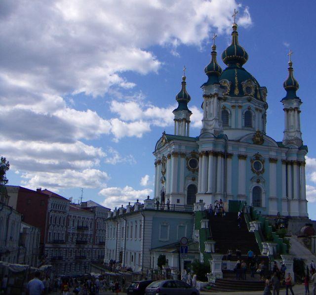 Zdjęcia: Kijów, Kijów , Jedno z ważniejszych miejsc w Kijowie Klasztor Świętego Andrzeja , UKRAINA