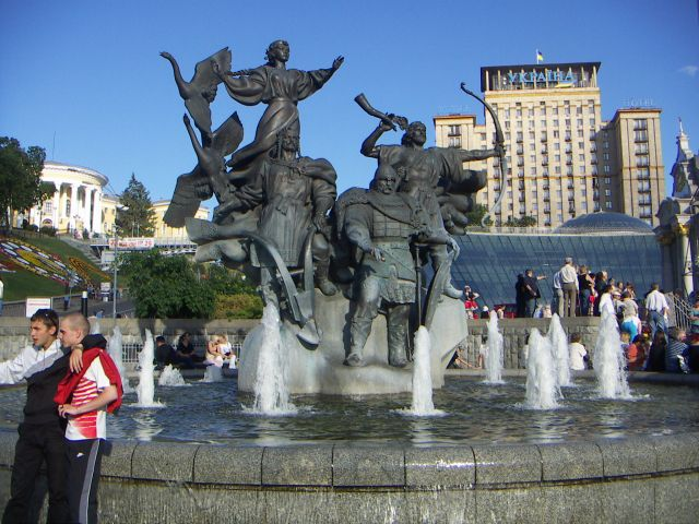Zdjęcia: Kijów, Kijów , Jedno z ważniejszych miejsc w Kijowie Majdan Niezależności, UKRAINA