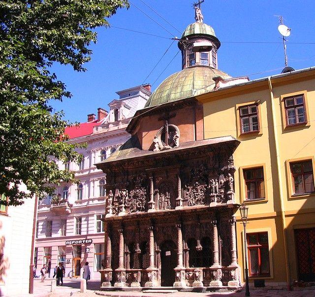 Zdjęcia: Lwów, Obwód Lwowski, Kaplica Boimów, UKRAINA