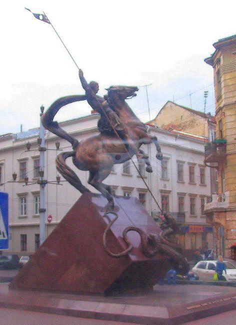 Zdjęcia: Lwów, Obwód Lwowski, św. Jerzy walczący ze smokiem, UKRAINA