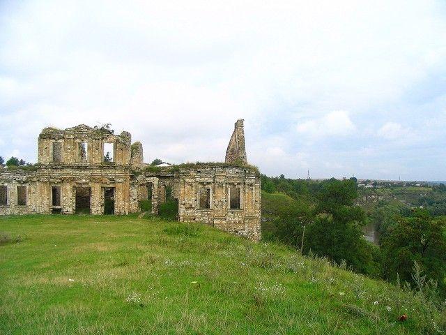 Zdjęcia: Skała Podolska, Podole, Ruiny zamku w  Skale Podolskiej, UKRAINA