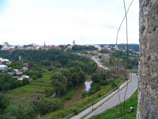 Zdjęcia: Kamieniec Podolski, Podole, Kamieniec-widok  na miasto z twierdzy, UKRAINA
