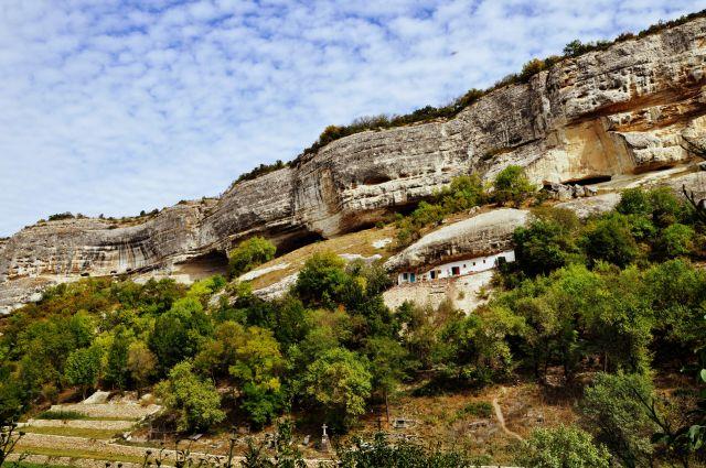 Zdjęcia: ok.Bakszysaraj, Krym, Domki w skale, UKRAINA