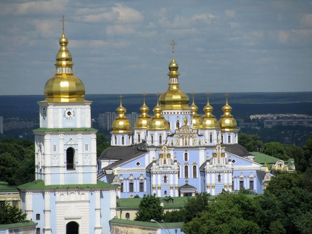 Zdjęcia: Kijów, Obwód kijowski , Monaster św. Michała Archanioła o Złotych Kopułach , UKRAINA