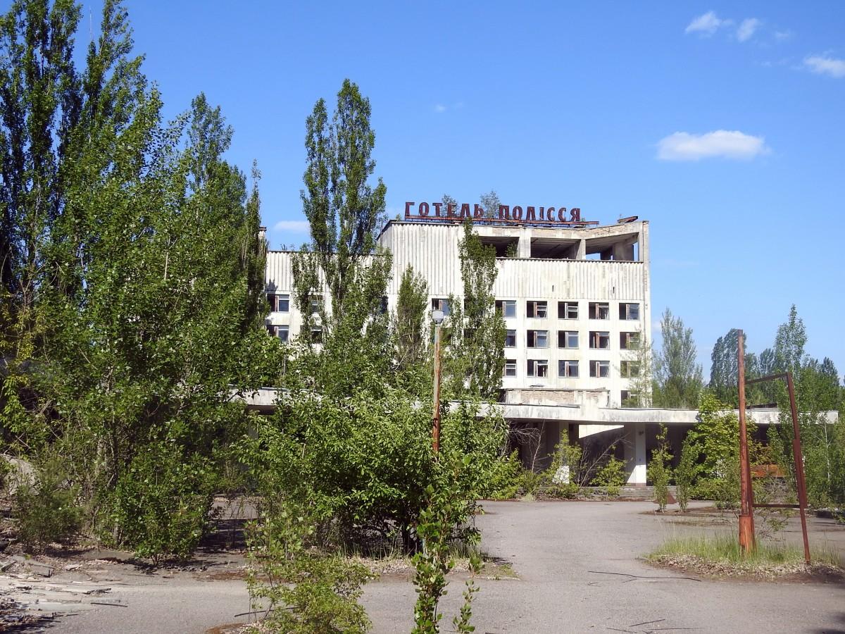 """Zdjęcia: Prypeć, Czarnobyl, Hotel """"Polesie"""" , UKRAINA"""