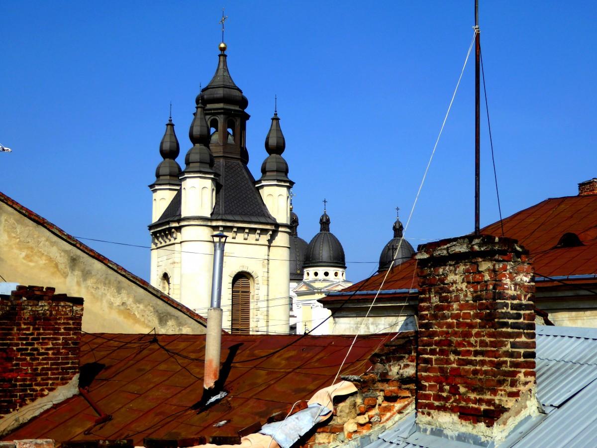 Zdjęcia: Lwów, Lwowskie dachy, UKRAINA