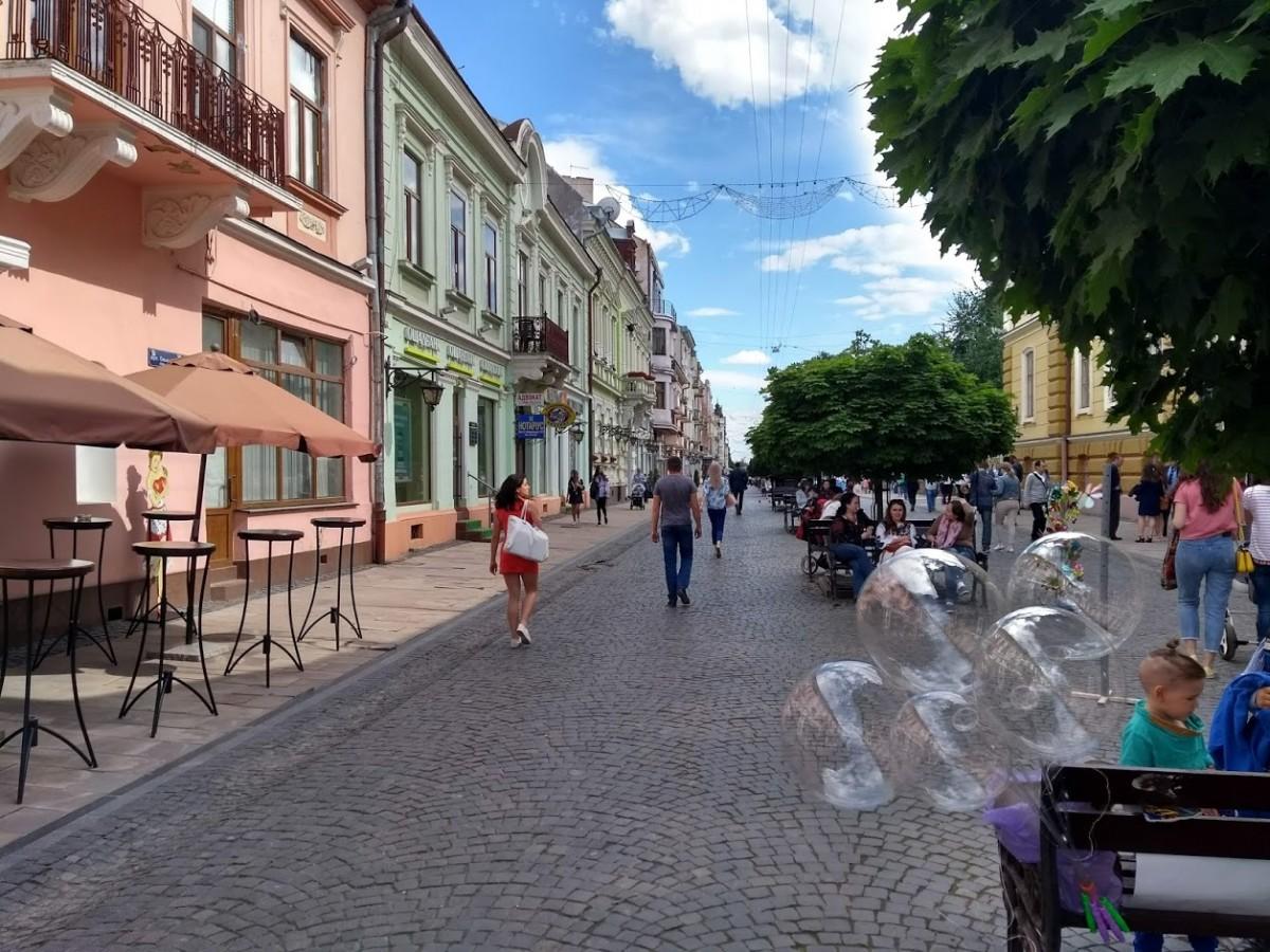 Zdjęcia: Czerniowce, Bukowina, Deptak Kobylańska, UKRAINA