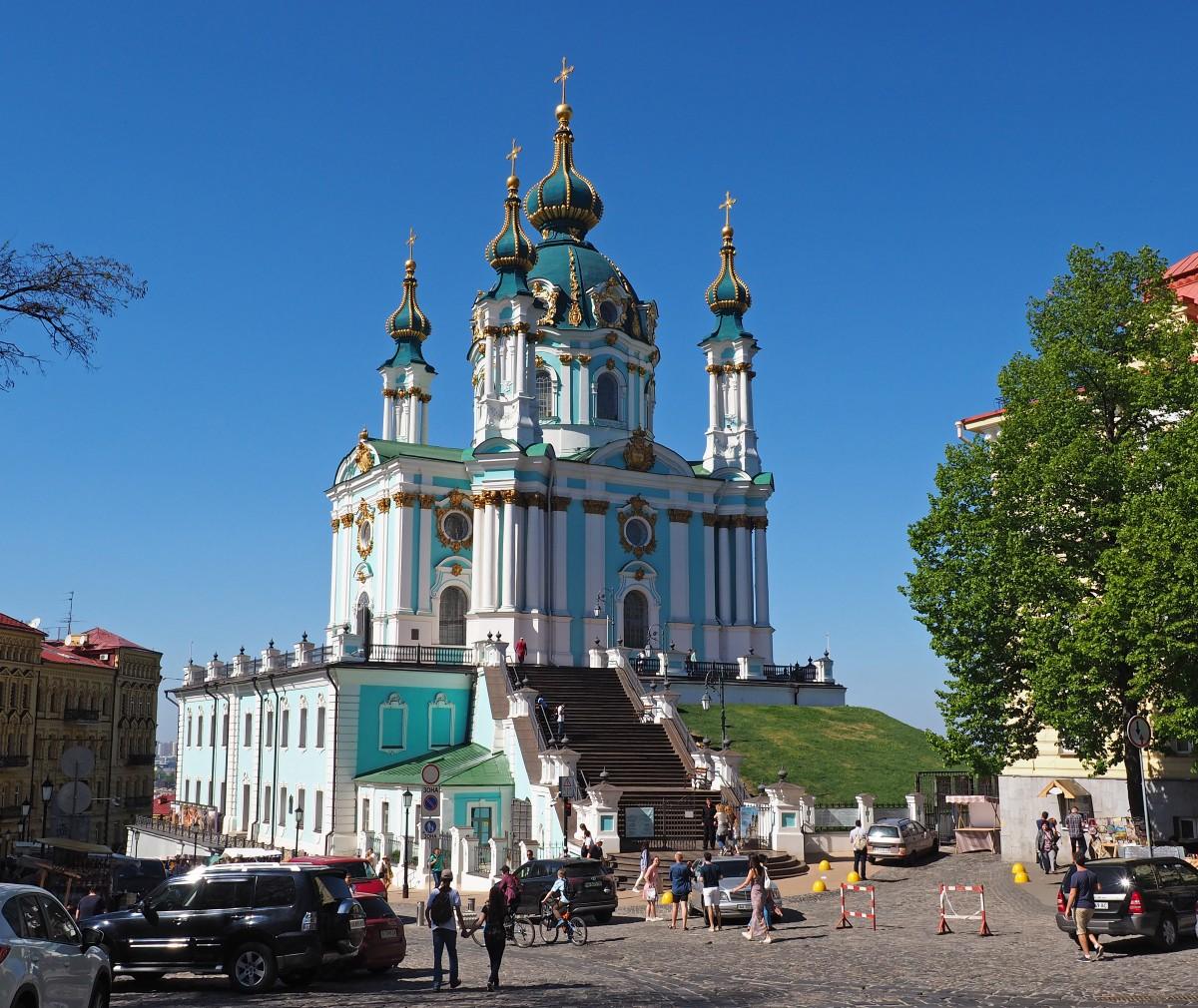 Zdjęcia: Kijów, Obwód kijowski, Cerkiew św. Andrzeja, UKRAINA