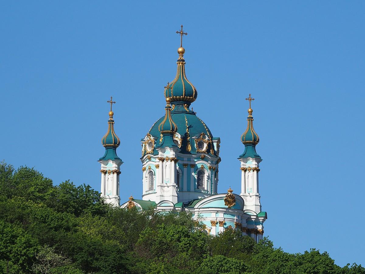 Zdjęcia: Kijów, Obwód kijowski, Cerkiew św. Andrzeja (II), UKRAINA